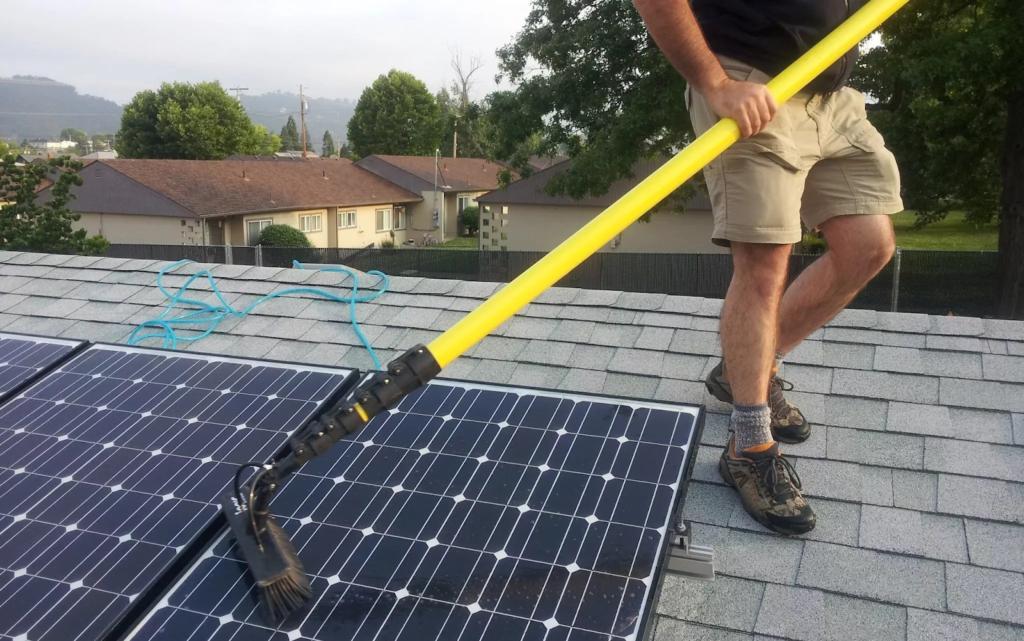 Очистка солнечных панелей