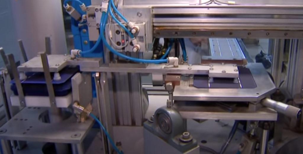 Этап производства солнечных батарей