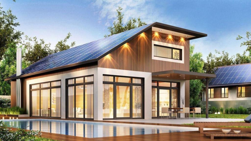 Дом с солнечной панелью