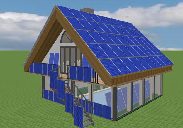 Дом - гелиостанция или как построить дом из солнечных панелей